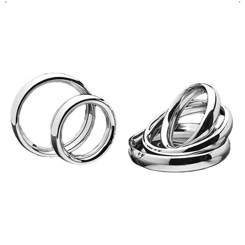 Stainless Steel Donut Cock Ring - 5 Sizes