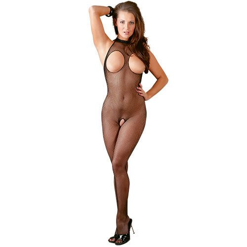 Mandy Mystery Open Bust Crotchless Bodystocking