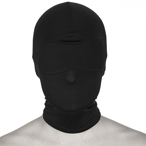 Bondage Spandex Hood and Blindfold - Black - Bondara