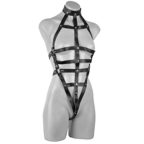 Deluxe Female Leather Body Harness