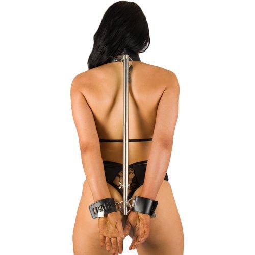 Bondara Luxe Leather Neck to Wrist Restraint