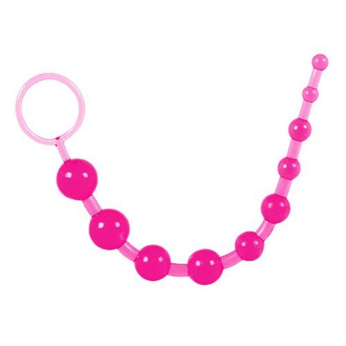 Pink Jelly Anal Beads - Bondara