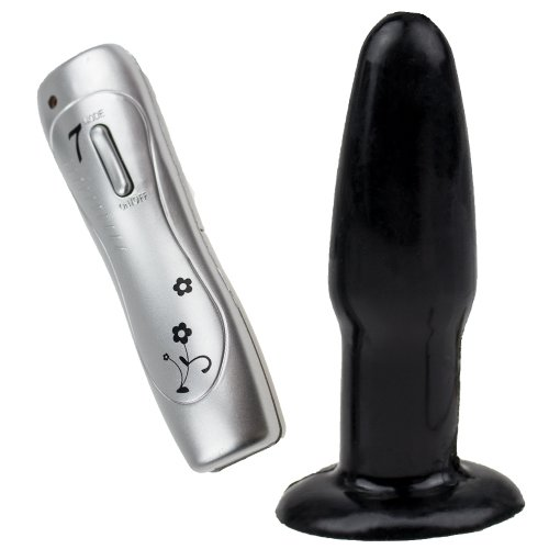 7-Speed Vibro Pulsar Butt Plug - Black - Bondara
