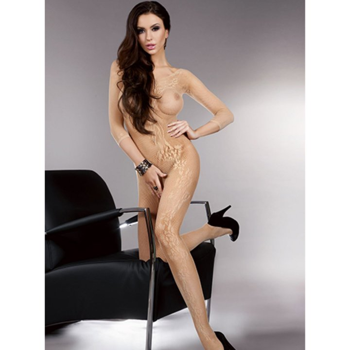 Livia Corsetti Gold Scoop Neck Crotchless Bodystocking