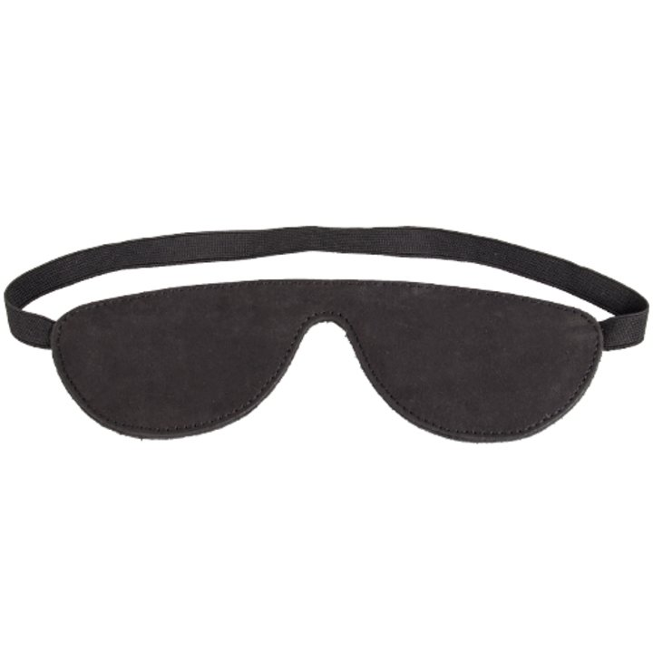 Bondara Black Nubuck Leather Blindfold
