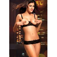 Bondara Diamond Open Cup Bra Set