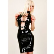 Latex Rubber Dress With Buckles