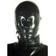 Anatomical Latex Rubber Mask With Zipper Mouth