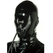 Latex Mask With Inflatable Penis Gag