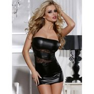 Bondara Strapless Wet Look Dress