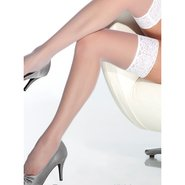 Coquette White Sheer Stockings With Lace Top