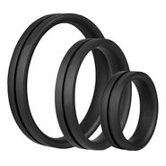 Screaming O RingO Pro Set of Three Black Silicone Cock Rings