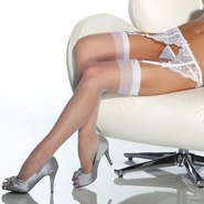 Coquette Sheer Stockings – White