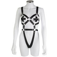 Bondara Body Harness with X-Shaped Nipple Pasties