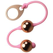Rocks Off Golden Balls Rose Gold Kegel Balls