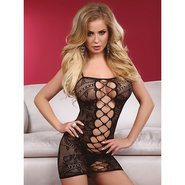 Livia Corsetti Alia Floral Fishnet Dress