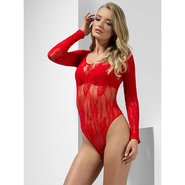 Red Lace Long Sleeve Body
