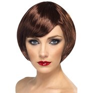 Sultry Brown Bob Side Fringe Wig