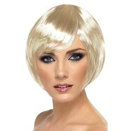 Sultry Blonde Bob Side Fringe Wig