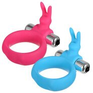 Buzz Bunny Silicone Vibrating Cock Ring