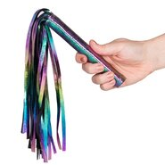 Bondara Shiny B!tch Holographic Faux Leather Flogger - 9.5 Inch