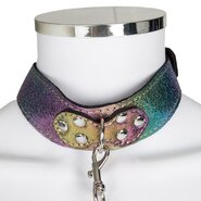 Bondara Shiny B!tch Holographic Faux Leather Collar and Leash