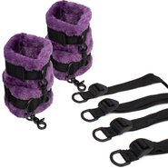 Bondara Soft Touch Purple Furry Under Bed Restraint