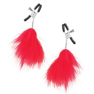 Fetish Fantasy Red Feather Nipple Clamps