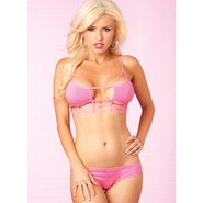 Pink Lipstick Cage Me In Pink Bra Set
