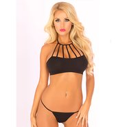 Pink Lipstick Behind Bars Bra Set