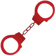 Ouch! Red Metal Beginner's Handcuffs