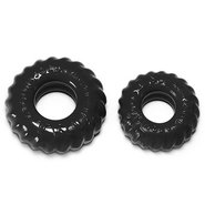 Oxballs Atomic Jock Truckt Black Set of Two Cock Rings