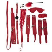 Dare Red Faux Leather Bondage Set