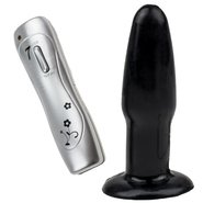 7-Speed Vibro Pulsar Butt Plug - Black