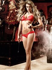 Baci Red Spot Bikini Set