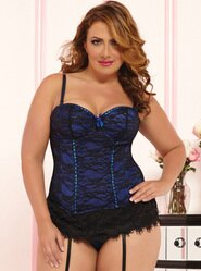 Seven Til Midnight Sapphire Victorian Lace Basque