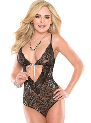 Coquette Kissable Lurex Lace Teddy