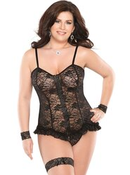 Coquette Queen Lace and Frills Corset