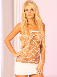 Pink Lipstick Web of Seduction Dress