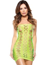 Vixen Neon Diamond Cut Out Tube Dress