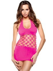 Vixen Diamond Cut Out Halter Dress