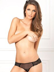 Rene Rofe Lace & Dots Crotchless Knickers