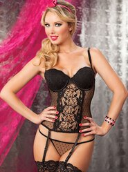 Seven Til Midnight Veronica Dotted Lace Bustier
