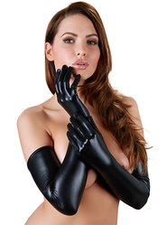 Cottelli Collection Wet Look Opera Gloves