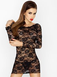 Passion Black Lace Mini Dress