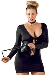 Cottelli Collection Plus Size Dominatrix Dress Set