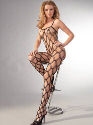 Mesh Split Crotch Bodystocking