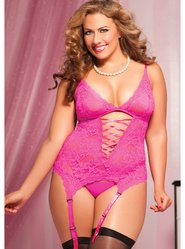 Seven Til Midnight Midnight Affair Queen Pink Lace Cami