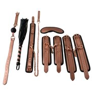 Beautifully Bound Rose Gold Real Leather Premium Set