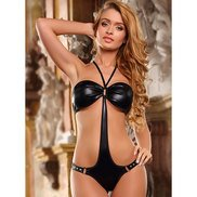 Bondara Studded Black Bandeau Teddy